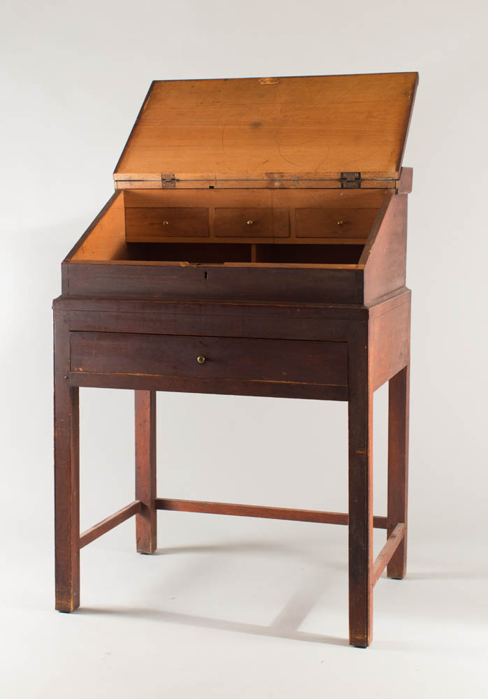 country Chippendale desk on frame with fine proportions