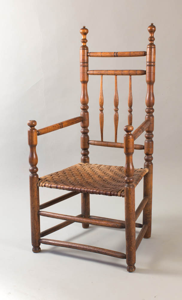fine turned  'Carver' chair with bold finials