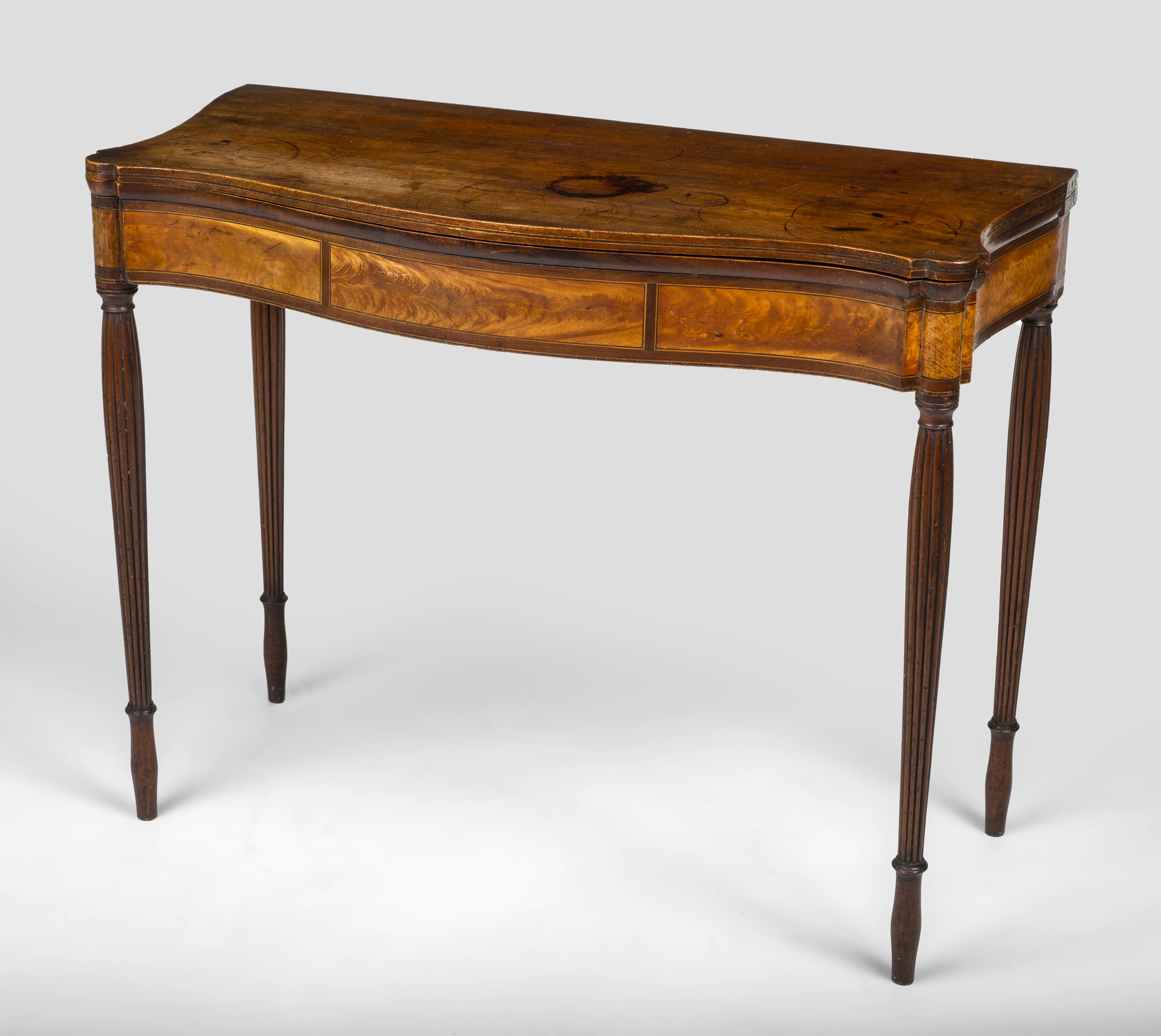 A very fine Sheraton card table